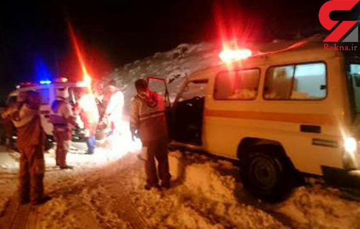 150 خودرو در محاصره کولاک جاده هراز