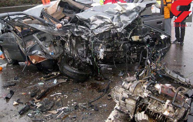 انحراف به چپ راننده پژو 2 کشته و مجروح داشت+عکس