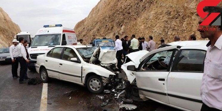 تصادف سمند و نیسان در البرز 11 مصدوم بر جای گذاشت