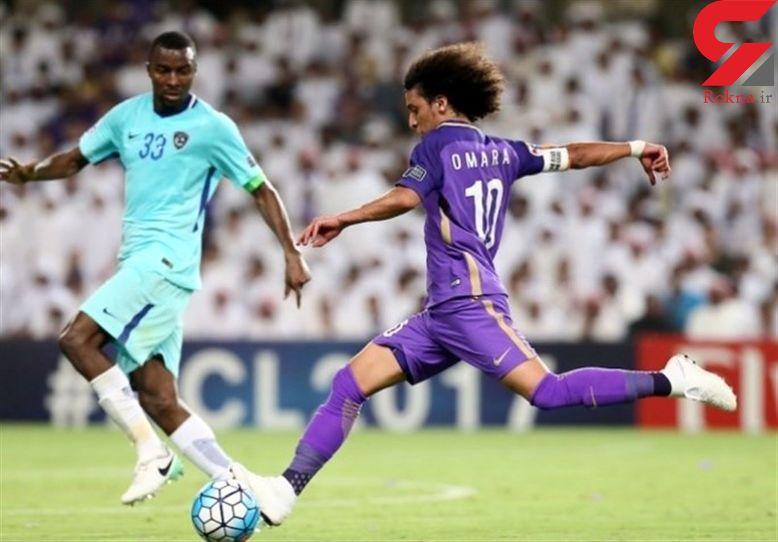 عمر عبدالرحمن برای عقد قرارداد با الهلال وارد ریاض شد + عکس