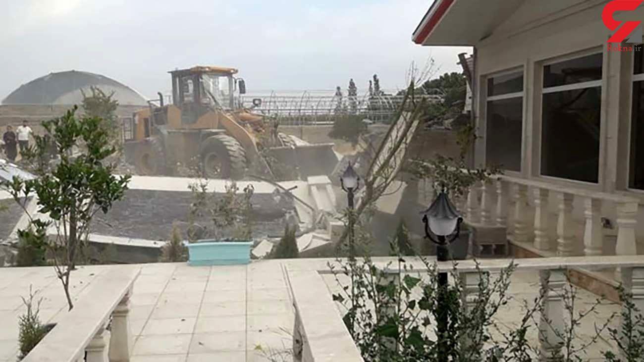 ویلای لاکچری یکی از شهرداران شهریار با خاک یکسان شد + عکس