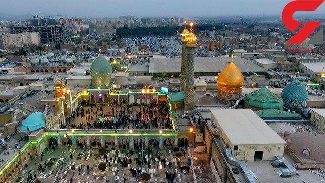 همسطح سازی قبور در صحن باغ طوطی آستان حضرت عبدالعظیم(ع)