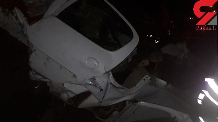 برخورد مرگبار پژو 207 در اتوبان جلال آل احمد