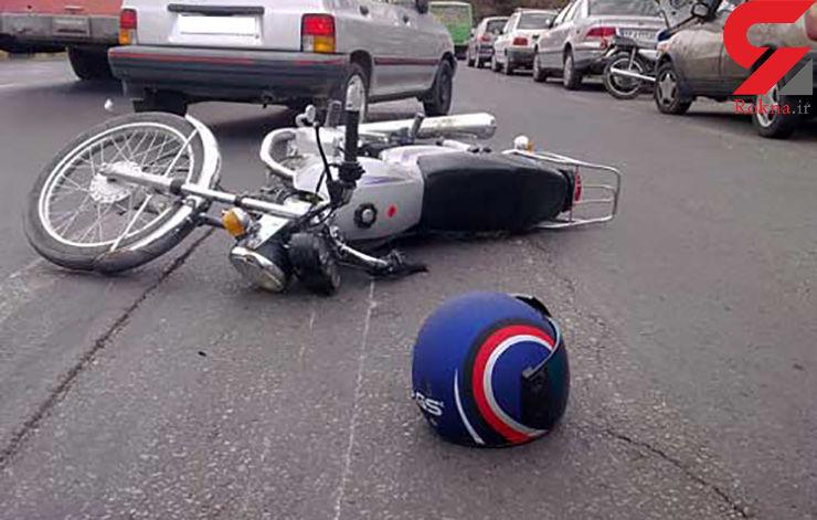 دختر بچه 9 ساله راننده موتورسیکلت در سانحه رانندگی جان باخت