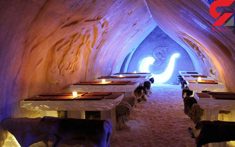 هتل رؤیا انگیز یخی در فنلاند