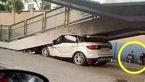 راننده زن ناشی ماشین لوکس صفر کیلومتر را اوراق کرد +تصاویر