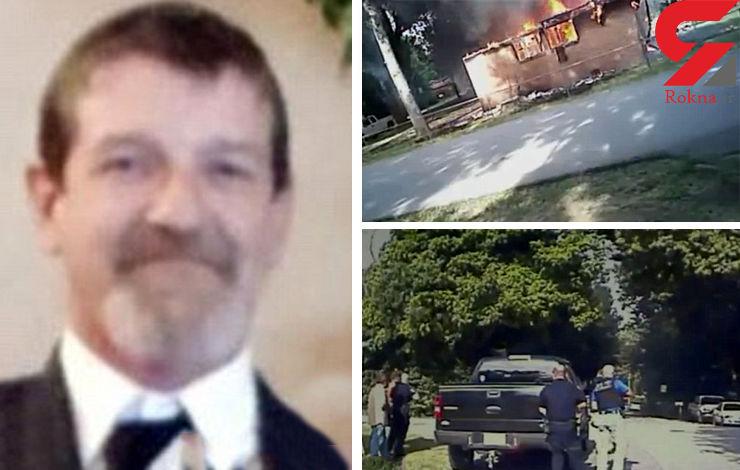 شوهر عصبانی خانهاش را  آتش زد/ شلیک مرگبار پلیس به این مرد+عکس