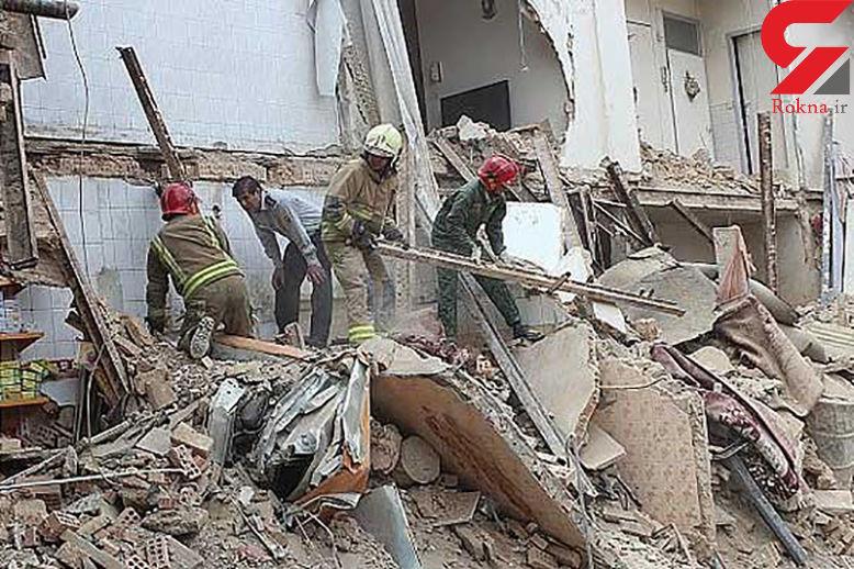 یک ساختمان ناگهان در تهران فروریخت!
