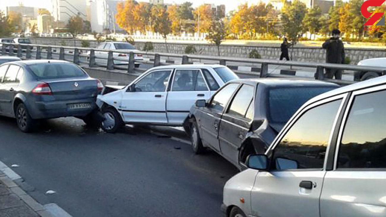 تصادف زنجیره ای در جاده مرگ آذربایجان غربی