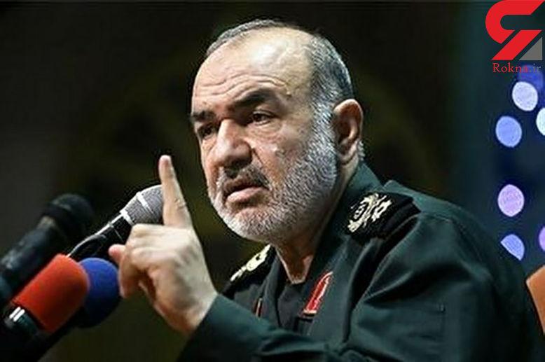 فرمانده کل سپاه: سیلی ملت ایران صورت دشمن را 180 درجه برگرداند