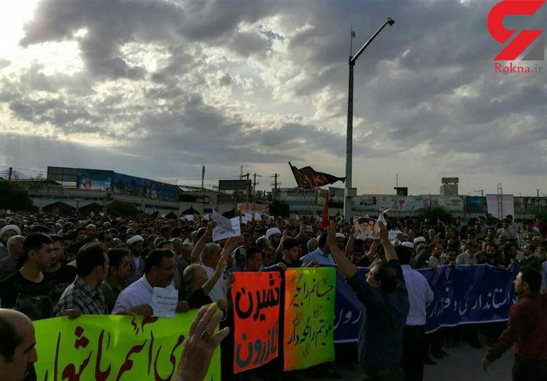 تجمع اعتراضی مردم در مخالفت با تقسیم شهرستان کازرون / امام جمعه چه گفت؟