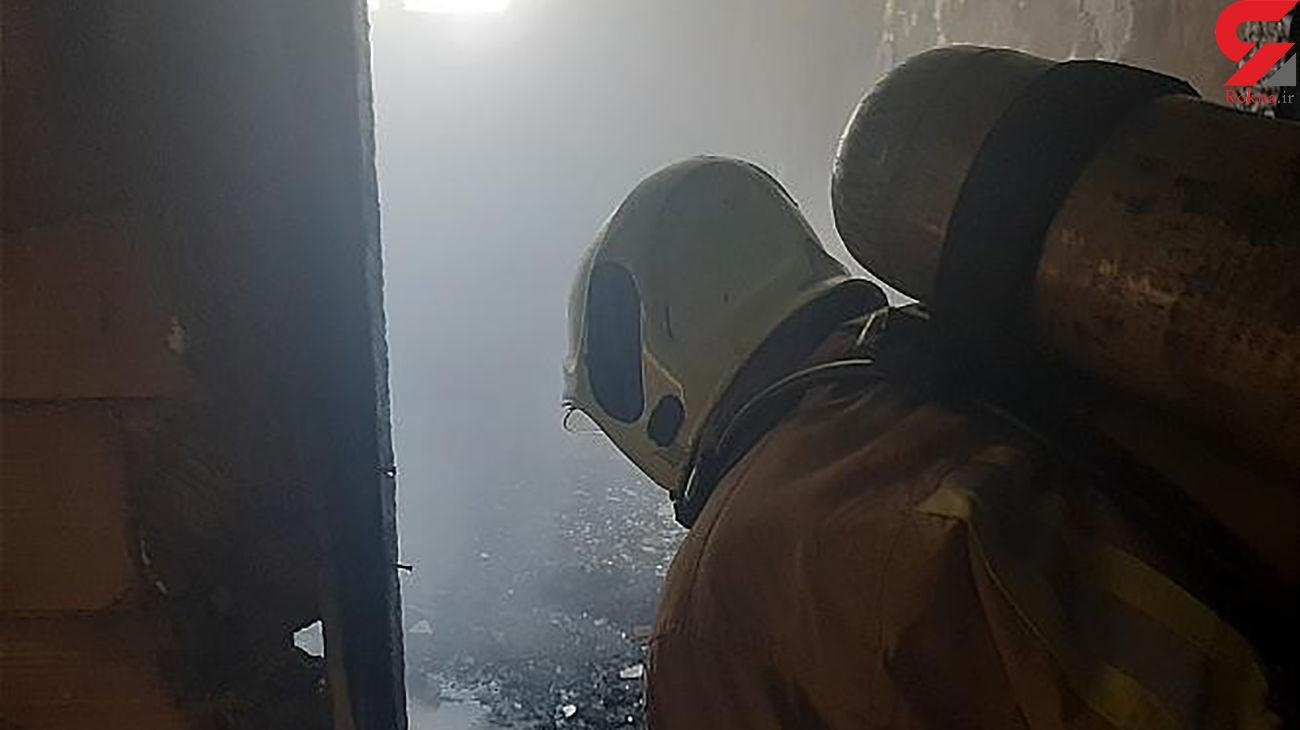 آتش سوزی در ساختمان نیمه کاره / در آذری رخ داد + عکس