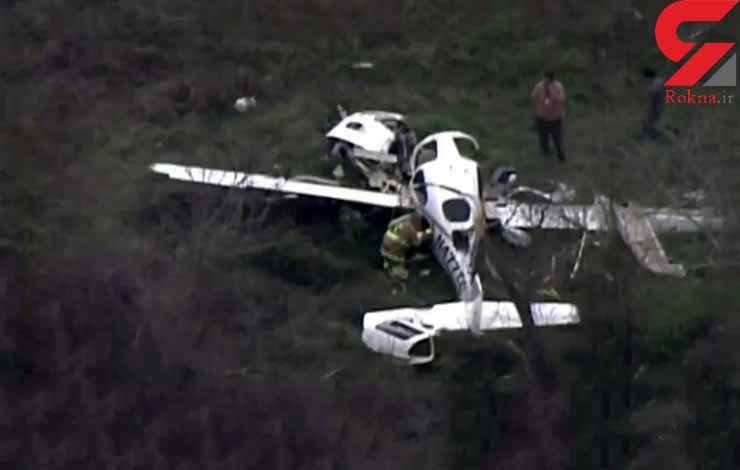 4 کشته با سقوط هواپیما در تگزاس + فیلم