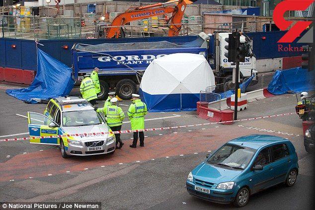 زن دوچرخهسوار در تصادف با کامیون کشته شد