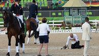 انتقام اسب عصبانی از مربی اش در ریو+عکس حادثه
