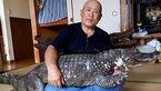 ۳۴ سال زندگی مشترک با سوسمار 50 ساله خطرناک+عکس