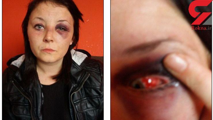 مردی زن بدکاره اش را در خیابان کتک زد و او را روی زمین تا خانه اش کشید +فیلم و عکس