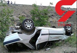 واژگونی پژو پارس حادثه آفرید + عکس