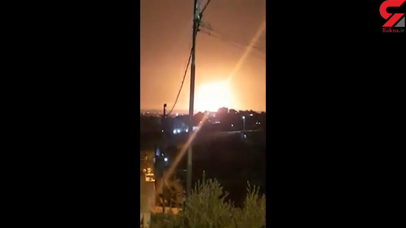 انفجار مهیب در یک زاغه مهمات در اردن + فیلم