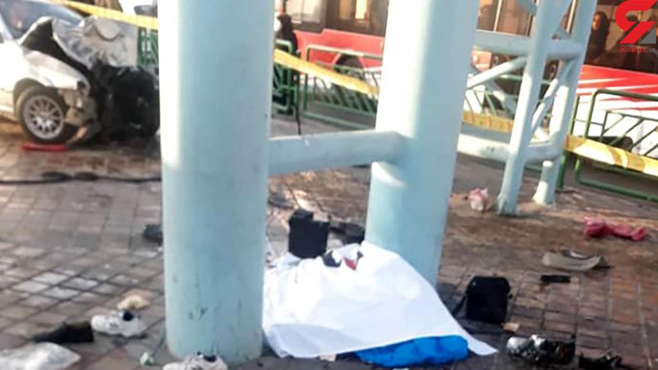 فداکاری مرگ آور مامور کلانتری تهران / امروز صبح رخ داد + عکس جنازه ها