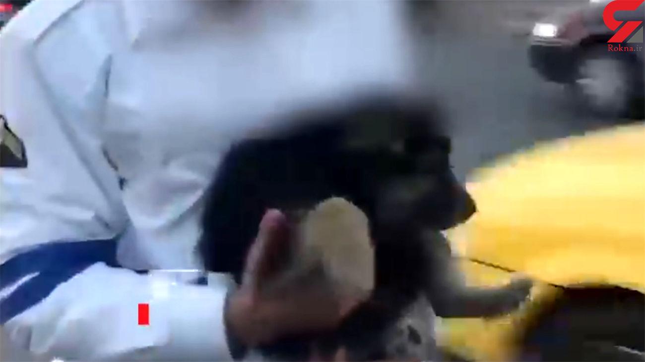 فیلم لحظه نجات سگ توسط پلیس درتهران