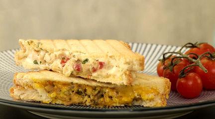ساندویچ های خوشمزه با تن ماهی و مرغ + دستور خانگی