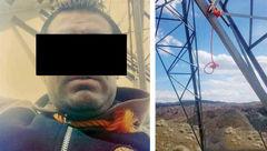 اولین عکس از جسد مرد همدانی که خودش را دار زد!  +تصویر
