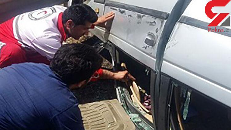 تصادف مرگبار در جاده کرمانشاه +عکس