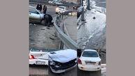 سرریز شدن آب روی آسفالت حادثه آفرید / در مسیر جاجرود تهران رخ داد + عکس