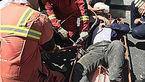 سقوط کارگر جوشکار از بالای اسکلت فلزی ساختمان نیمه کاره + عکس