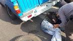 بلایی که هنگام پنچرگیری بر سر مرد جوان در بزرگراه آزادگان آمد + عکس