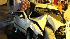 انحراف سمند از جاده 2 کشته بر جای گذاشت+عکس