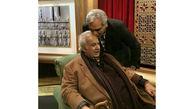 بوسه مهران مدیری در پشت صحنه دورهمی با حضور ناصر ملک مطیعی/ برنامه ای که هرگز پخش نشد