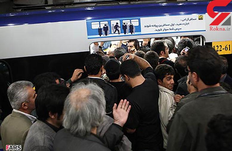 علت ازدحام جمعیت در خط 2 مترو چه بود؟