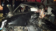 حادثه مرگبار در قزوین / تصادف پراید و تریلی با 3 کشته
