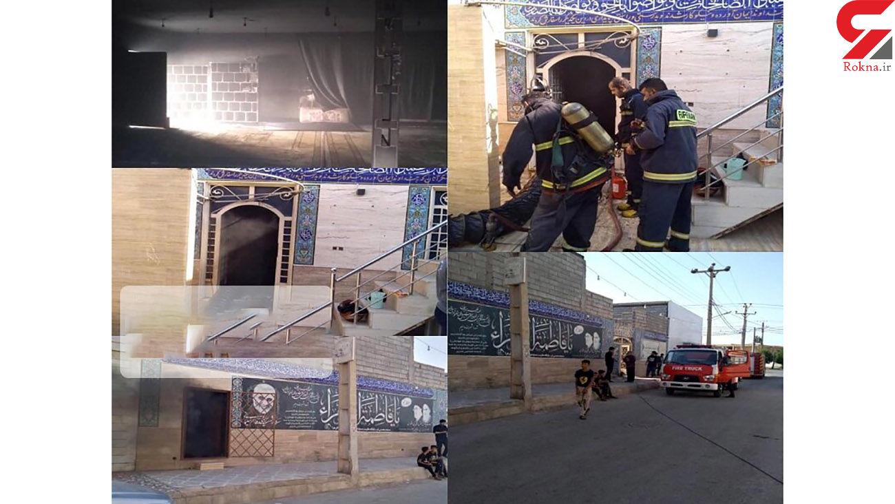 مسجد خرمشهر آتش گرفت + جزئیات