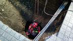 سقوط مرد تهرانی 50 ساله داخل چاه در خیابان جمهوری + عکس و فیلم