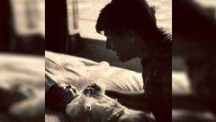 عکس زیرخاکی از محمدرضا شجریان  و نوزادی پسرش همایون