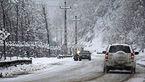 بارش برف در ارتفاعات هراز و کندوان/ جادههای مازندران لغزنده است