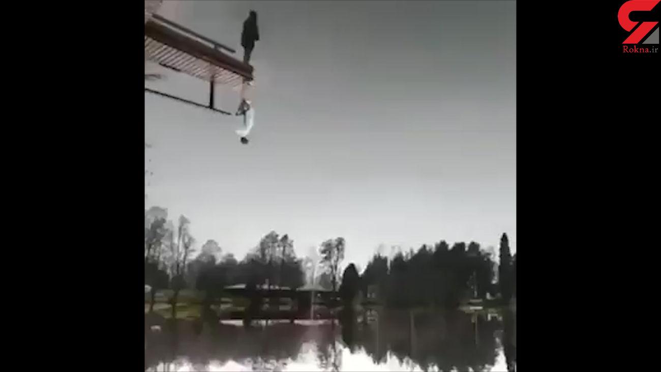 این مرد روی زمین است یا روی هوا؟! + فیلم