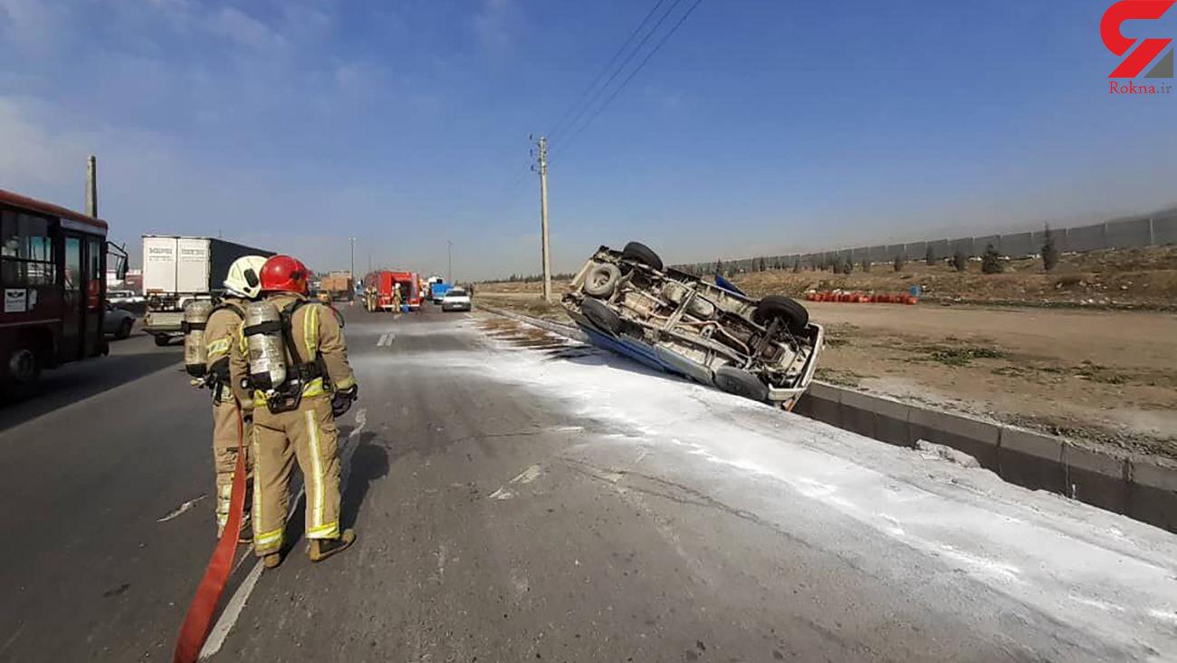 واژگونی خودرو در شهر درود نیشابور یک کشته داشت