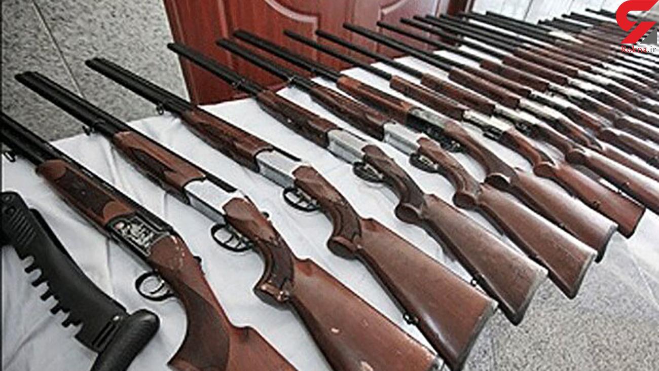 کشف 10 سلاح شکاری غیرمجاز در آق قلا
