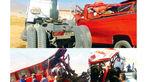 عکس های تصادف خونین معلمان در اراک