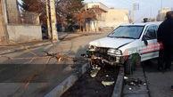 پراید در درخت فرو رفت ! / در البرز رخ داد + عکس