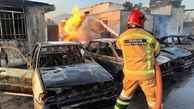 آتش سوزی منزل شخصی در روستای بید زرد کوار