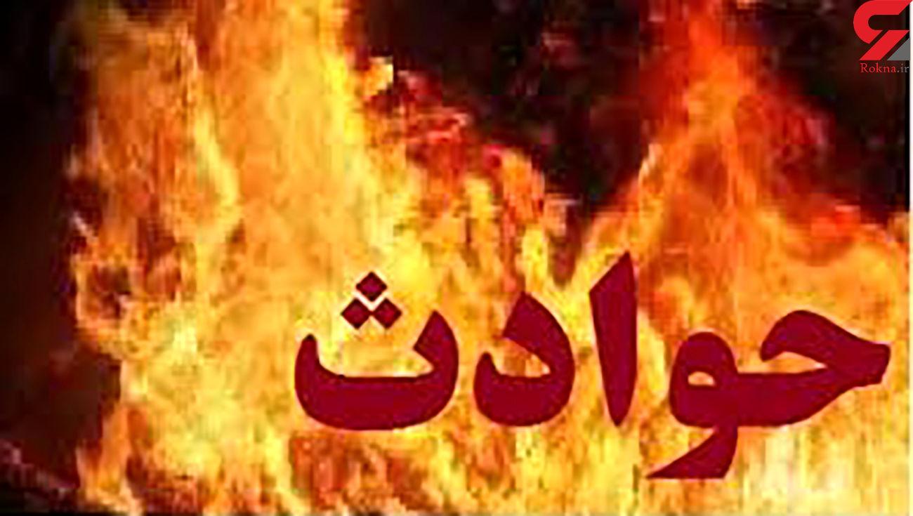 مهار آتش سوزی فروشگاه البسه در میدان ۱۷شهریور مشهد