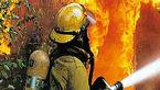 2 مرد درکانکس آتشین  عوارضی بستان آباد زنده زنده سوختند