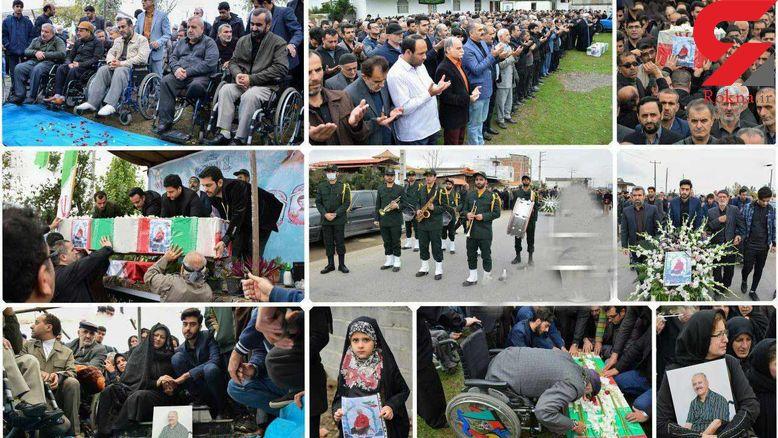 پیکر جانباز 70 درصد «امانالله دارابی» در کرمان تشییع میشود