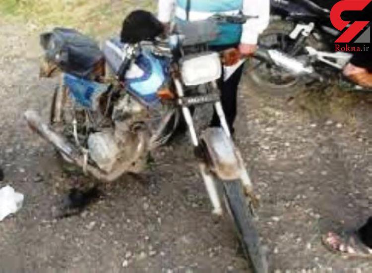 """برخورد خونین  2 موتورسیکلت در""""دوبرجی"""" فارس"""