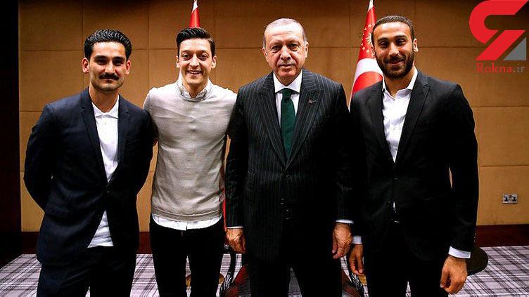 جنجال عجیب دیدار 2 فوتبالیست سرشناس آلمانی با رئیس جمهور ترکیه